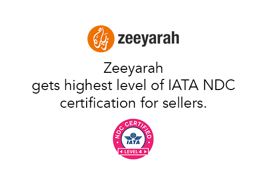 Zeeyarah.com gets highest level of IATA NDC Certification for sellers.
